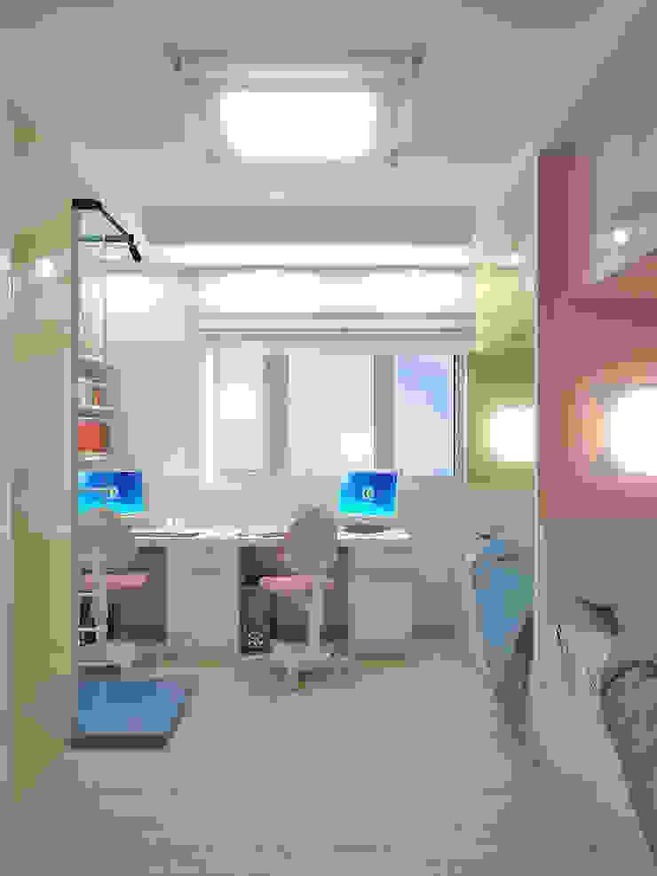 Квартира на Филевском бульваре Детская комнатa в стиле минимализм от Симуков Святослав частный дизайнер интерьера Минимализм