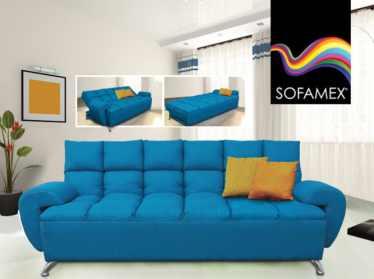 homify Living roomSofas & armchairs Flax/Linen Blue