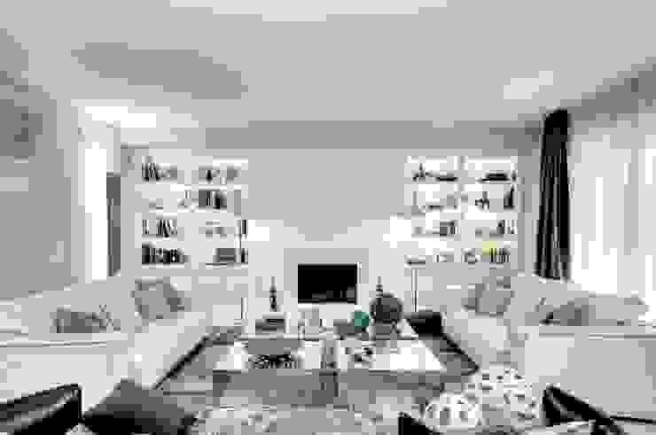 Ernesto Fusco Salas de estilo moderno Madera Blanco