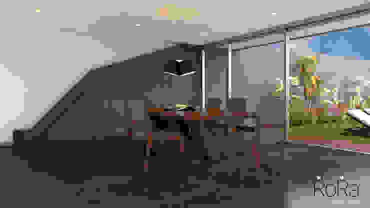 Desarrollo de Interiorísmo : Comedores de estilo  por LA RORA Interiorismo & Arquitectura, Moderno