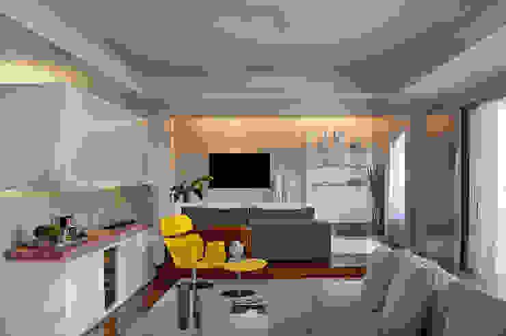 Thaisa Camargo Arquitetura e Interiores Ruang Keluarga Modern Multicolored