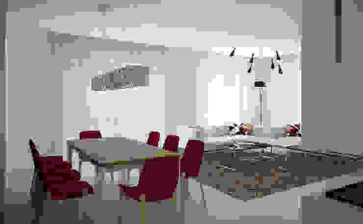 дизайн-студия Олеси Середы의  거실