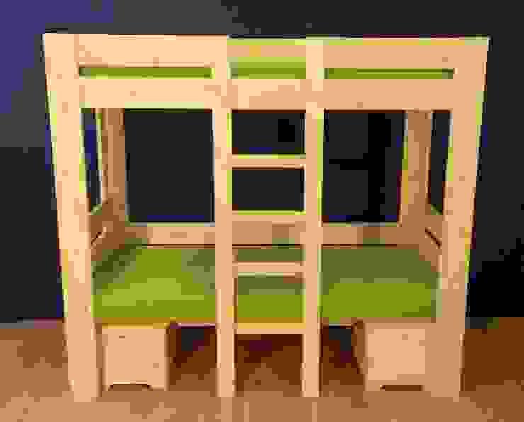 Stapelbed om te bouwen tot hoogslaper met tafel van Blankhoutenhuis Landelijk Hout Hout
