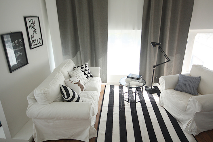 (주)데코뷰 Living roomAccessories & decoration Textile Grey