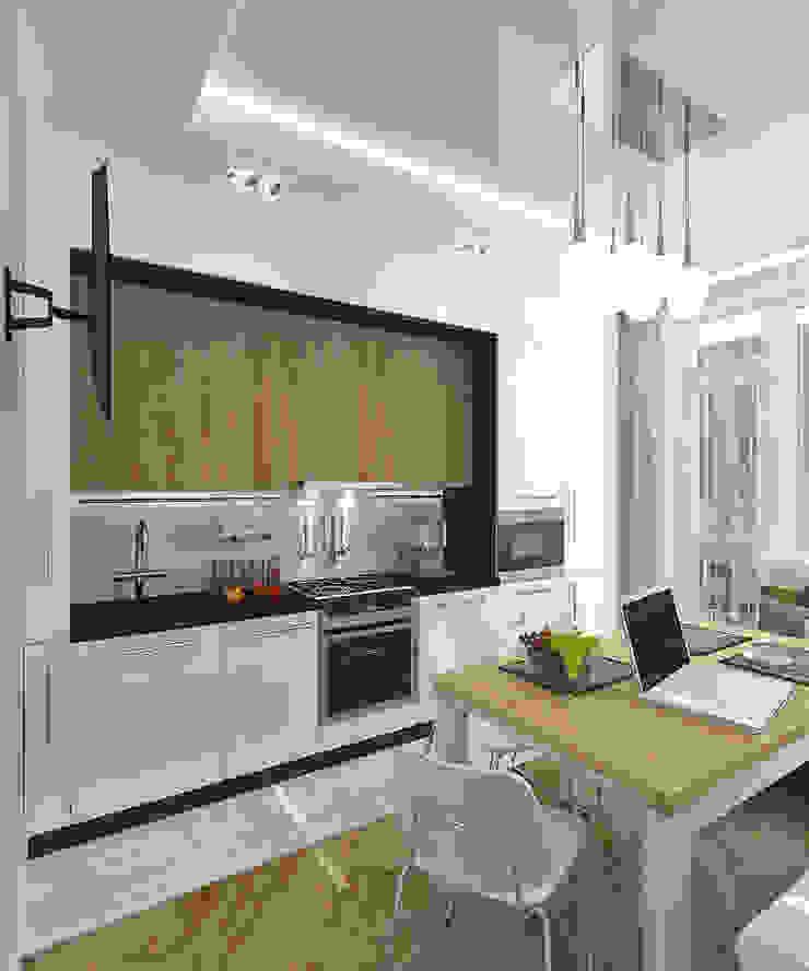 "Квартира в элитном жилом комплексе ""Парус"" Кухня в стиле минимализм от Design Rules Минимализм"