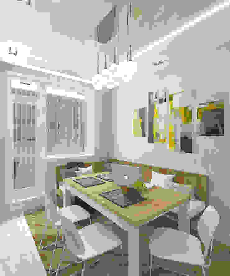 Квартира в элитном жилом комплексе <q>Парус</q> Кухня в стиле минимализм от Design Rules Минимализм