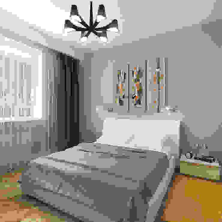 Квартира в элитном жилом комплексе <q>Парус</q> Спальня в стиле минимализм от Design Rules Минимализм