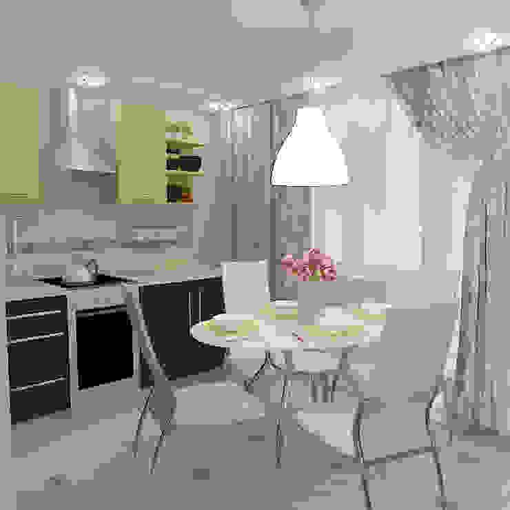 Двухкомнатная квартира в жилом комплексе <q>Онежский дворик</q> Кухни в эклектичном стиле от Design Rules Эклектичный