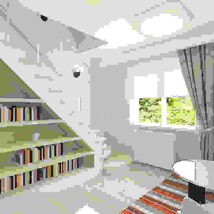 Couloir, entrée, escaliers originaux par Design Rules Éclectique