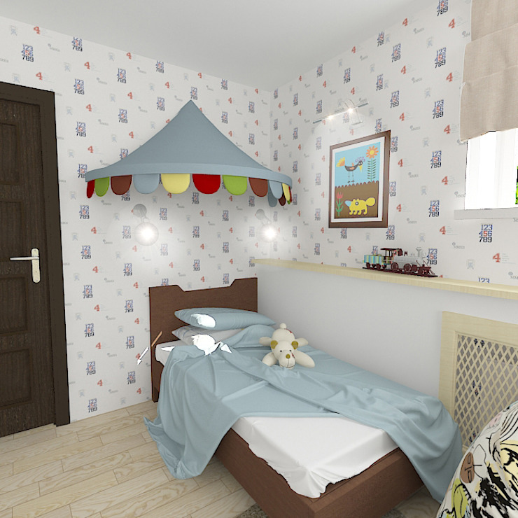 Коттедж в поселке Сепыч Детские комната в эклектичном стиле от Design Rules Эклектичный