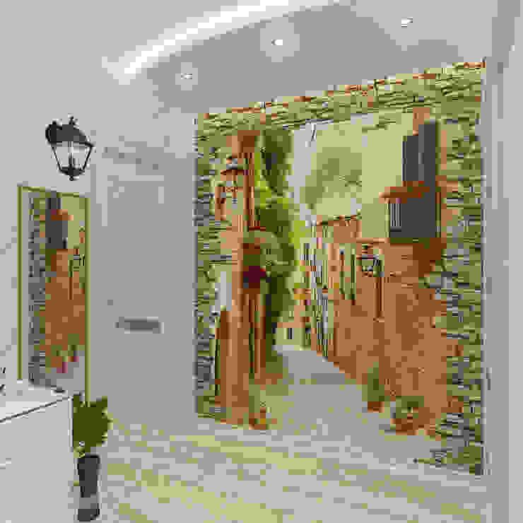 Трехкомнатная квартира Коридор, прихожая и лестница в эклектичном стиле от Design Rules Эклектичный