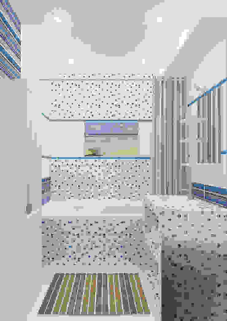Трехкомнатная квартира Ванная комната в эклектичном стиле от Design Rules Эклектичный