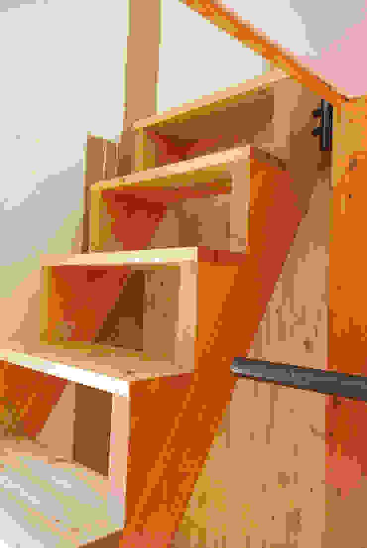 Pasillos, vestíbulos y escaleras de estilo ecléctico de allmermacke Ecléctico Madera Acabado en madera