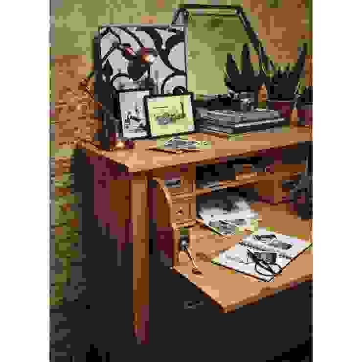 Light Oak Hidden Bureau Arbeitszimmer im Landhausstil von The Cotswold Company Landhaus Holz Holznachbildung