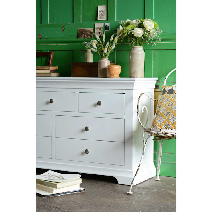 Chantilly White 3 over 4 Drawer Chest by The Cotswold Company Кантрi Дерево Дерев'яні