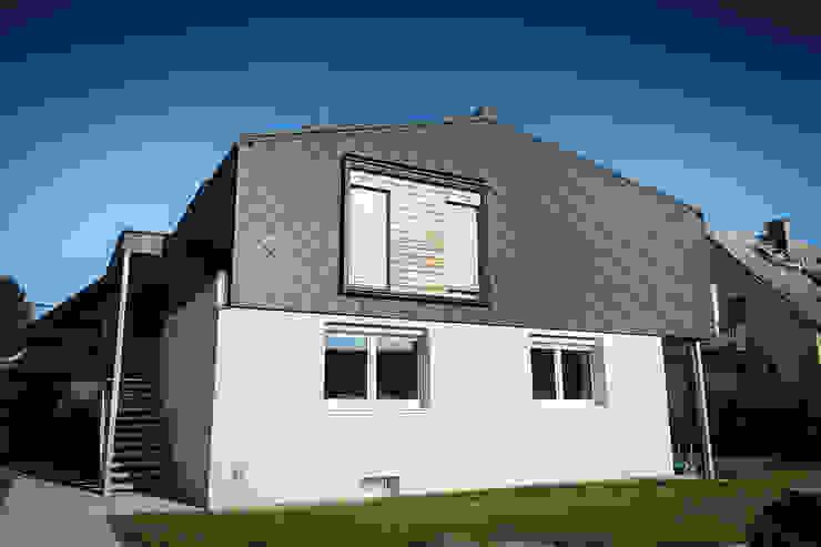 Gartenseite Moderne Häuser von Florian Schober Architektur ZT Modern Aluminium/Zink