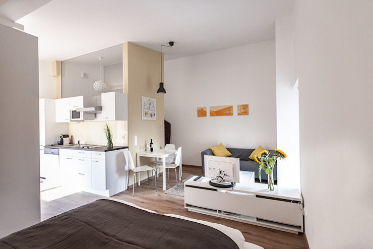 Studio Giallo Moderne Schlafzimmer von Florian Schober Architektur ZT Modern