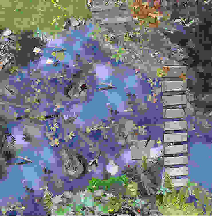 Bridge over Pond par Blue Butterfly Flooring Rural