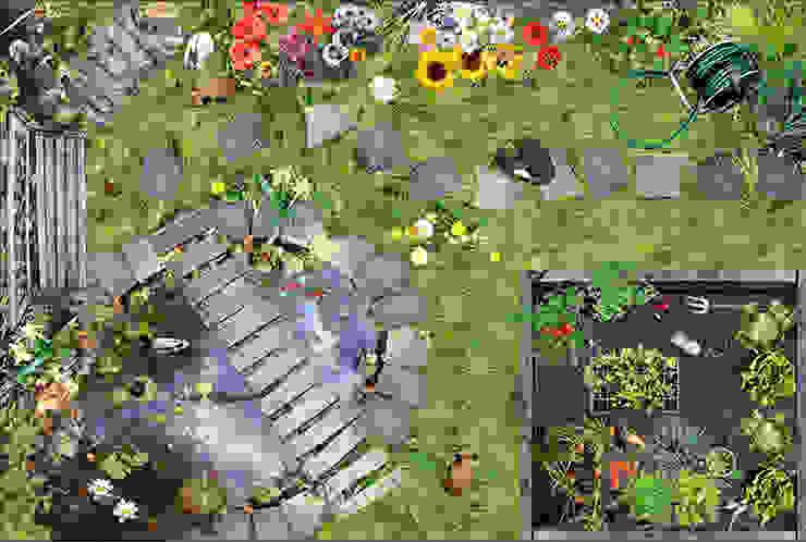 A Day in the Garden par Blue Butterfly Flooring Rural