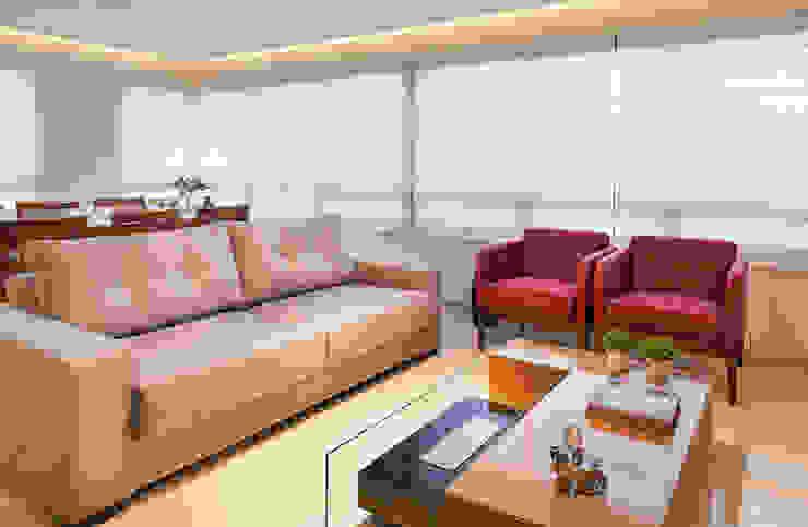 Petrópolis Salas de estar modernas por Estela Andreazza arquitetura +interiores Moderno