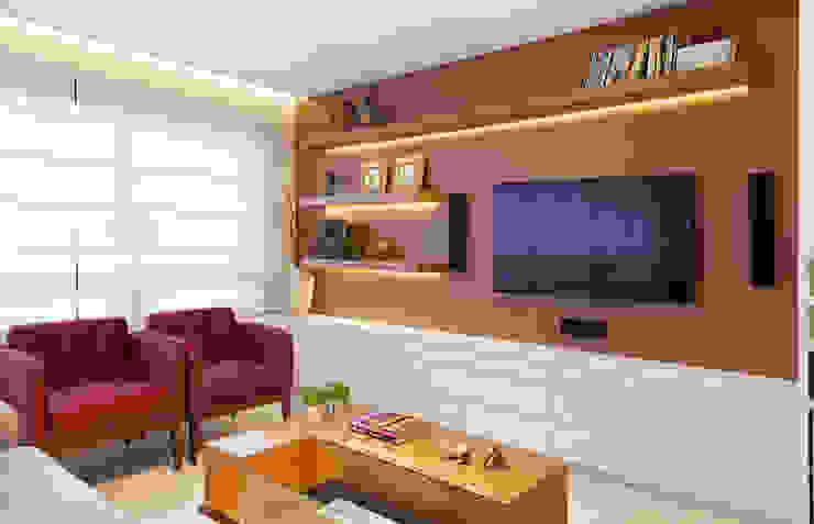 Estela Andreazza arquitetura +interiores Ruang Keluarga Modern