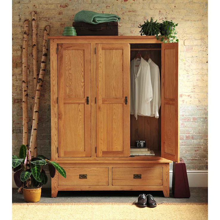 Oakland 3 Door Triple Wardrobe The Cotswold Company Country style bedroom Wood