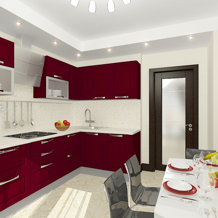Квартира в жилом комплексе <q>Алиса</q> Кухни в эклектичном стиле от Design Rules Эклектичный
