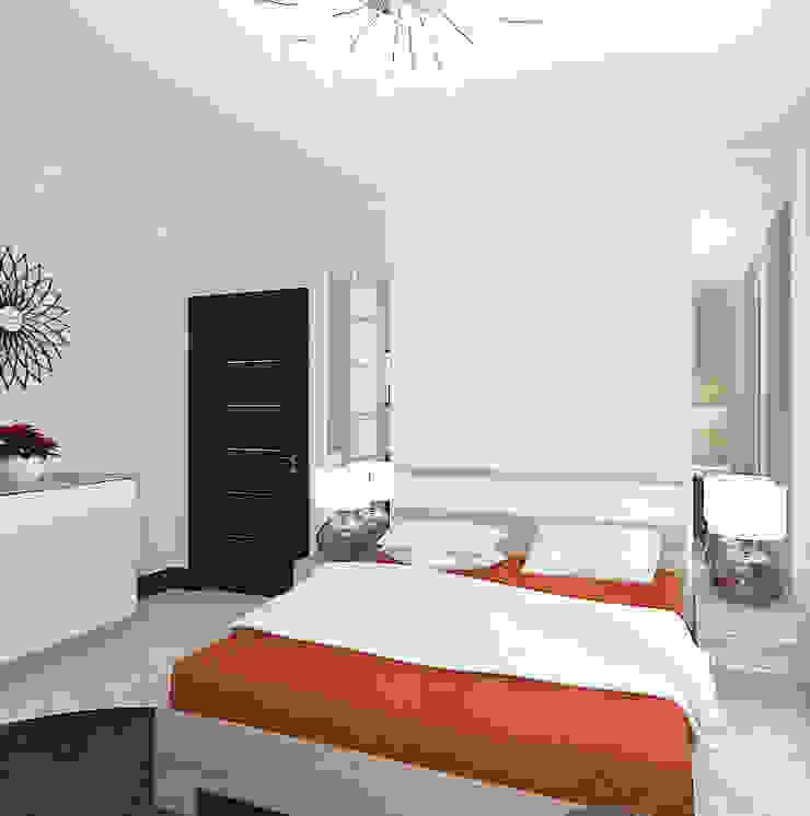 Квартира в жилом комплексе <q>Алиса</q> Спальня в эклектичном стиле от Design Rules Эклектичный