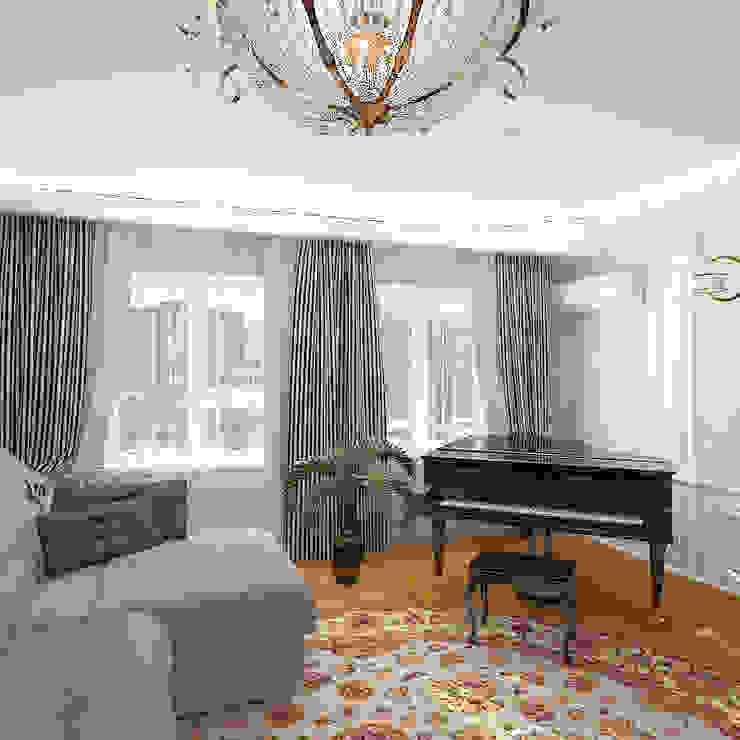 Пятикомнатная квартира в элитном жилом комплексе Гостиная в классическом стиле от Design Rules Классический