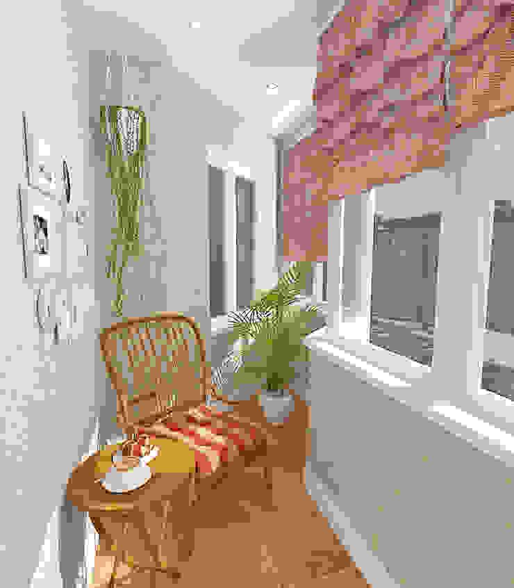 Пятикомнатная квартира в элитном жилом комплексе Балкон и терраса в классическом стиле от Design Rules Классический