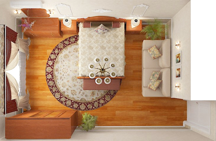 Пятикомнатная квартира в элитном жилом комплексе Спальня в классическом стиле от Design Rules Классический