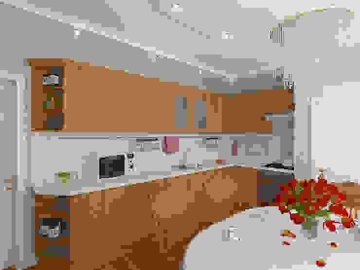 Пятикомнатная квартира в элитном жилом комплексе Кухня в классическом стиле от Design Rules Классический