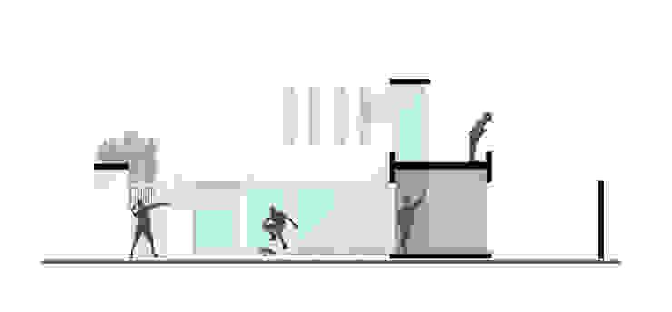 CASA L Balcones y terrazas modernos de ODRACIR Moderno