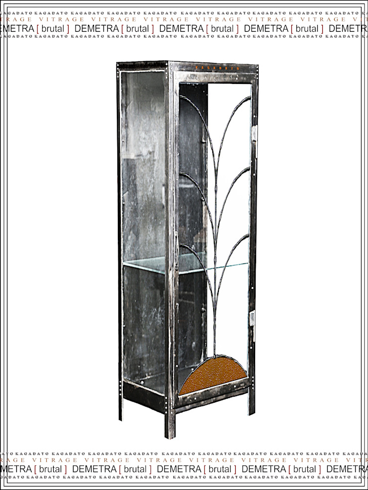 Металлический шкаф - DEMETRA [brutal] от KAGADATO Лофт Железо / Сталь