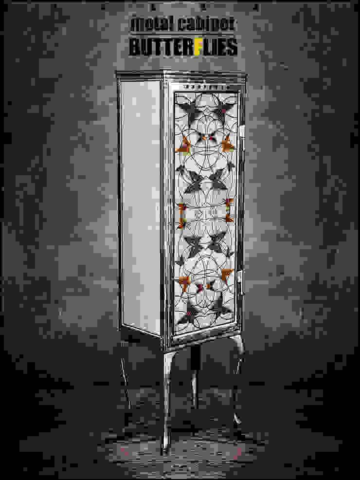 Металлический шкаф - BUTTERFLIES от KAGADATO Лофт