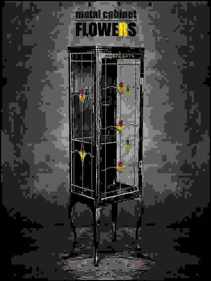 Металлический шкаф - FLOWERS от KAGADATO Лофт