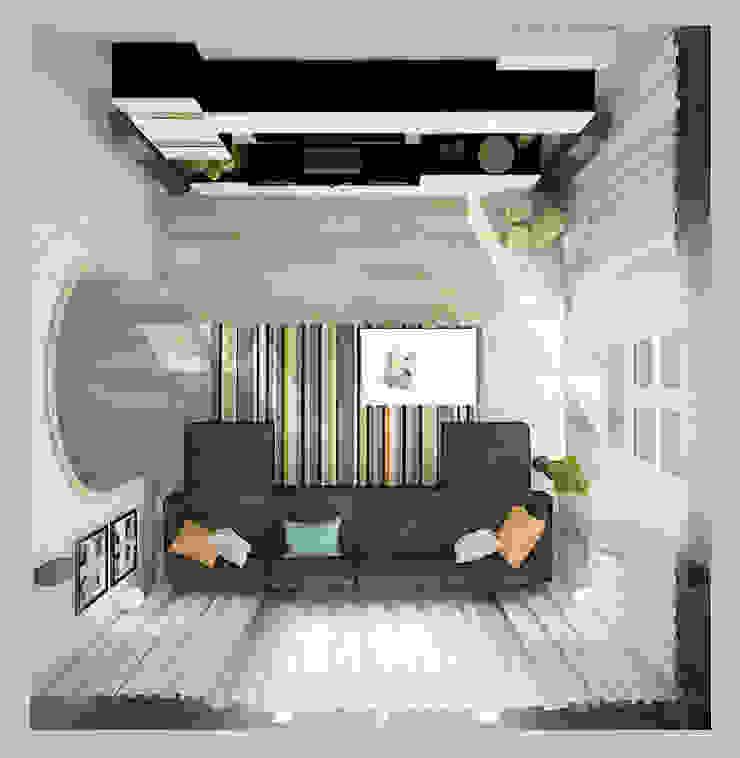 Коттедж в деревне Пирогово Гостиные в эклектичном стиле от Design Rules Эклектичный