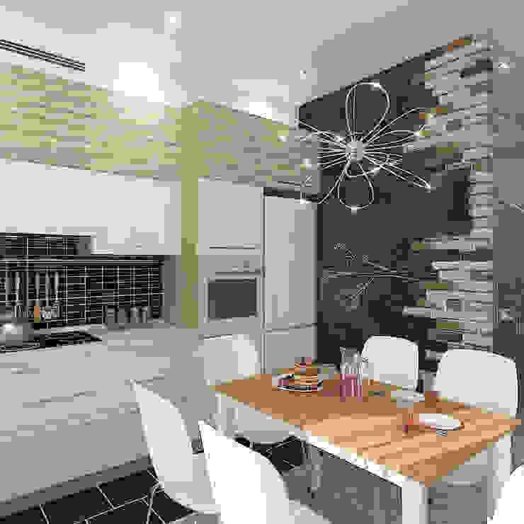 Коттедж в деревне Пирогово Кухни в эклектичном стиле от Design Rules Эклектичный