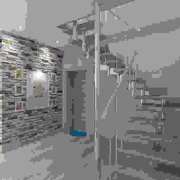 Коттедж в деревне Пирогово Коридор, прихожая и лестница в эклектичном стиле от Design Rules Эклектичный