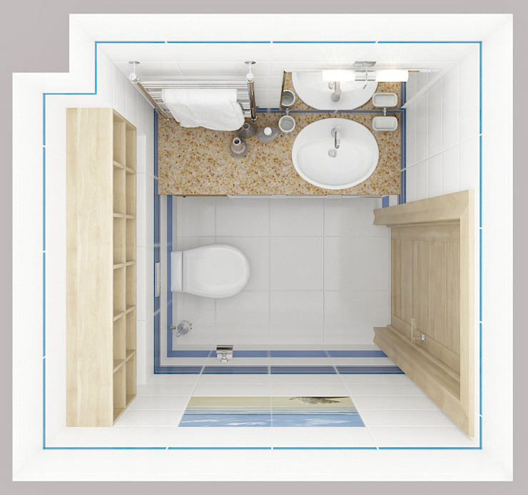 Коттедж в деревне Пирогово Ванная комната в эклектичном стиле от Design Rules Эклектичный