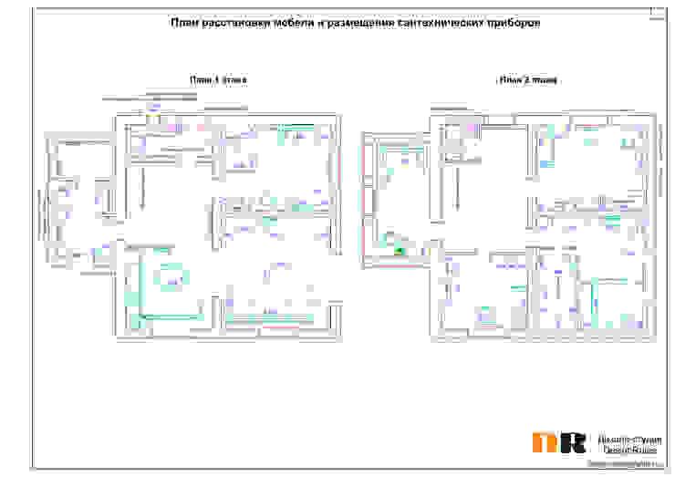 План помещения с расстановкой мебели от Design Rules Эклектичный
