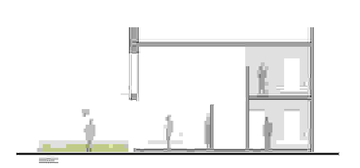 CASA TAR Salones modernos de ODRACIR Moderno