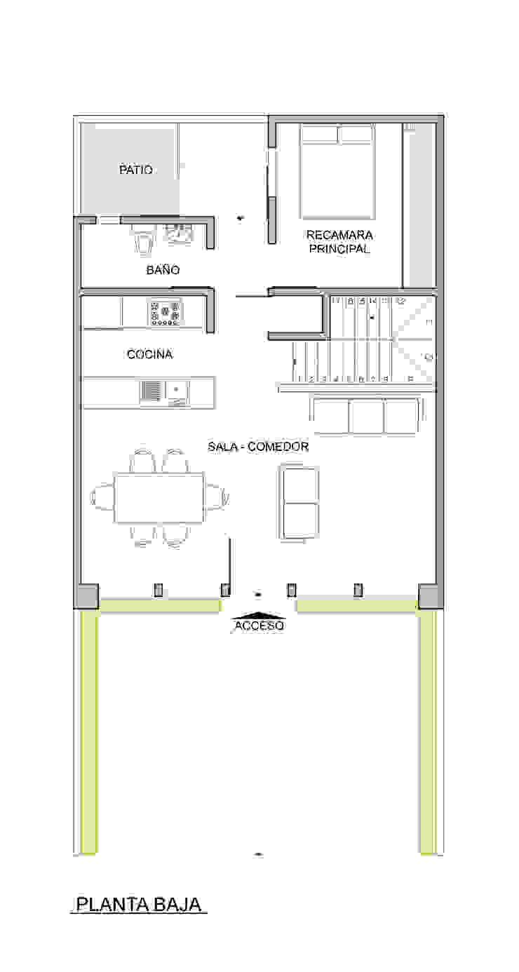 CASA TAR Pasillos, vestíbulos y escaleras modernos de ODRACIR Moderno