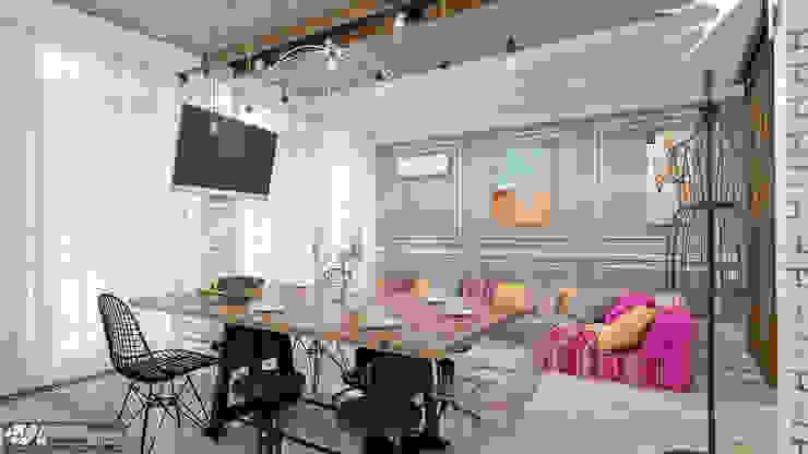 Living room by Kornienko-Partners, Eclectic