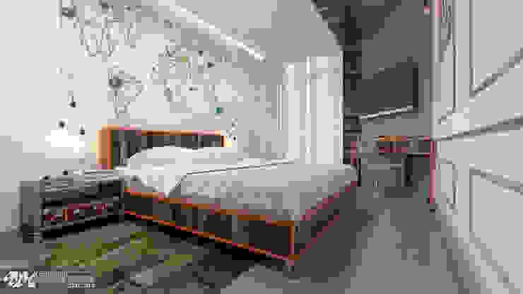 """""""Vintage"""" Спальня в эклектичном стиле от Kornienko-Partners Эклектичный"""