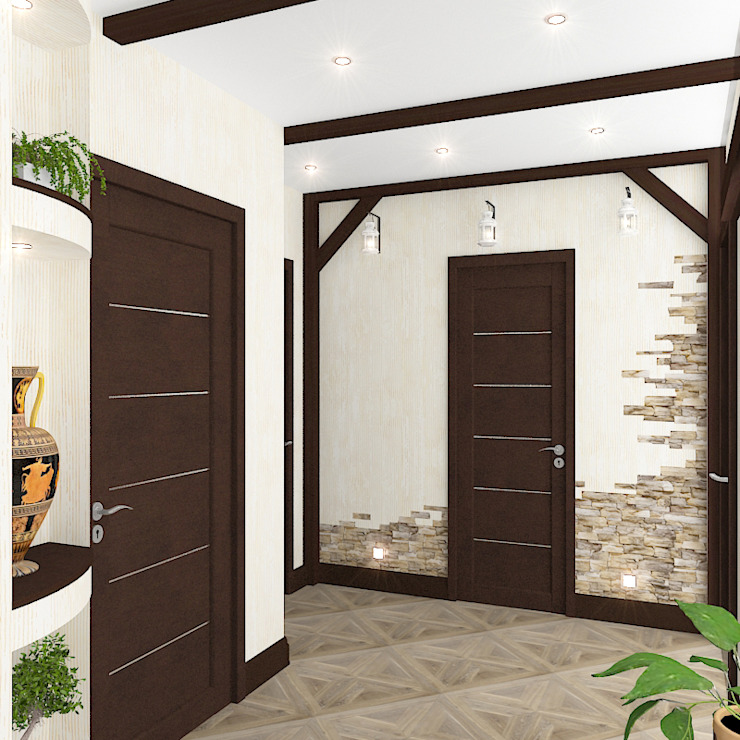 Pasillos, vestíbulos y escaleras de estilo ecléctico de Design Rules Ecléctico