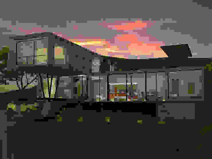 Vista aterdecer Casas modernas de SERVER arquitectura y construcción Moderno