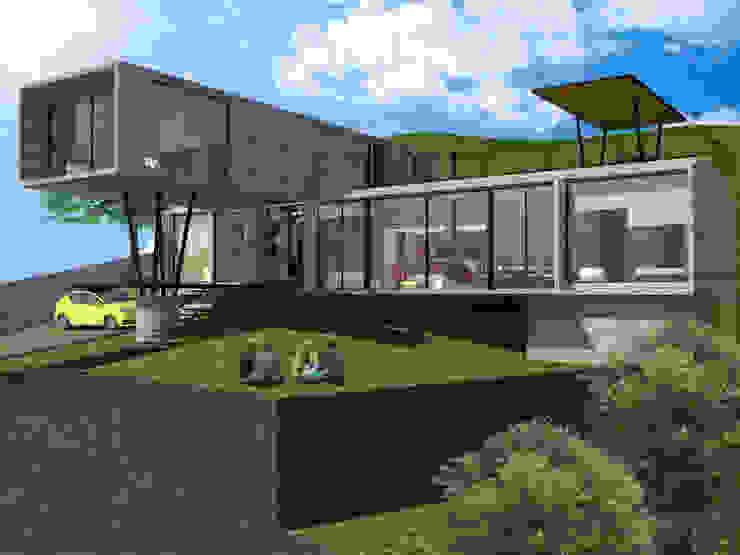 Perspectiva Casas modernas de SERVER arquitectura y construcción Moderno