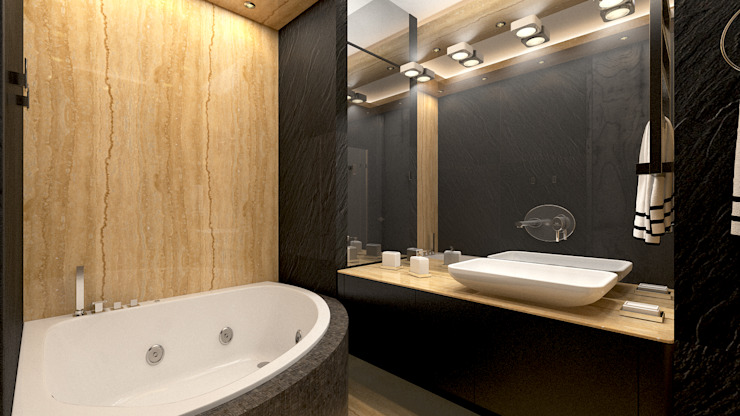 Ванная комната Ванная комната в стиле минимализм от homify Минимализм