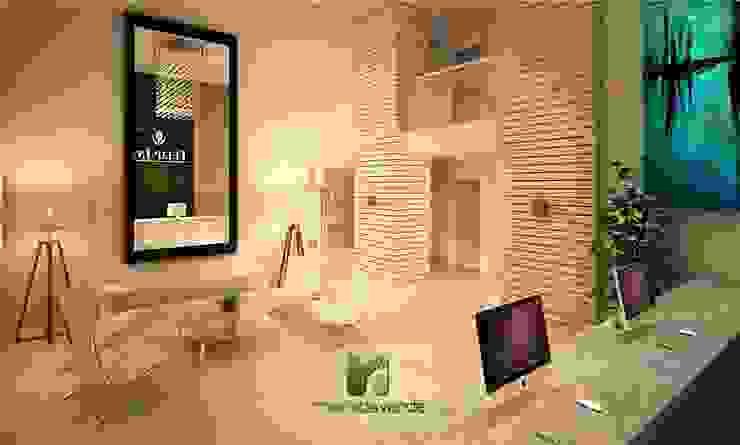 Minimalist corridor, hallway & stairs by Moradaverde Arquitetura Ltda. Minimalist